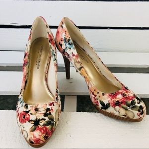 Christian Siriano Floral Slip On Pumps